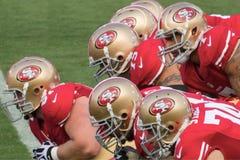 jogo da ofensiva 49ers Fotos de Stock Royalty Free