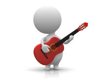 Jogo da pessoa a guitarra Imagem de Stock Royalty Free