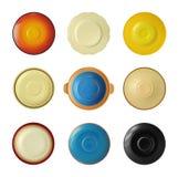 Jogo da placa cerâmica vazia Imagens de Stock