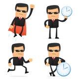 Jogo da segurança engraçada dos desenhos animados Foto de Stock Royalty Free