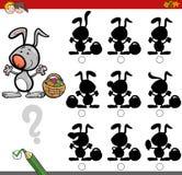 Jogo da sombra com coelhinho da Páscoa ilustração royalty free