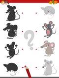 Jogo da sombra com ratos ilustração royalty free