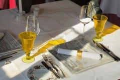 Jogo da tabela de jantar foto de stock royalty free