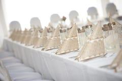 Jogo da tabela do casamento Imagens de Stock