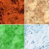 Jogo da textura de mármore da superfície da laje Fotografia de Stock Royalty Free
