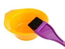 Jogo da tintura de cabelo Imagens de Stock