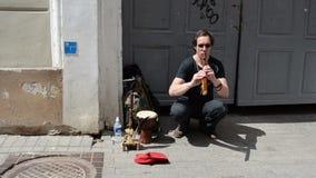 Jogo da tubulação da flauta do homem filme