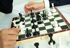 Jogo da xadrez Imagem de Stock