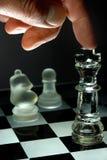 Jogo da xadrez na noite Fotografia de Stock
