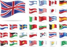 Jogo das bandeiras. Imagens de Stock