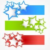 Jogo das bandeiras com estrelas Foto de Stock