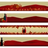 Jogo das bandeiras: Tema do vinho ilustração stock