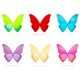 Jogo das borboletas Imagens de Stock Royalty Free