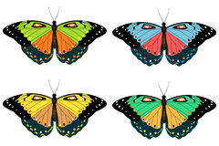 Jogo das borboletas Fotos de Stock Royalty Free