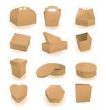 Jogo das caixas e dos pacotes Imagens de Stock Royalty Free