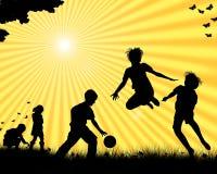 Jogo das crianças Fotos de Stock Royalty Free