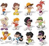 Jogo das crianças dos desenhos animados Imagem de Stock