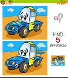 Jogo das diferenças com carro engraçado ilustração stock