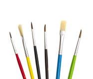 Jogo das escovas para a pintura Imagem de Stock Royalty Free