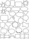Jogo das etiquetas brancas ilustração royalty free