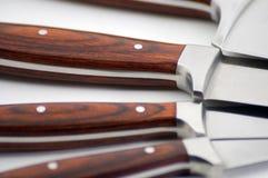 Jogo das facas em um Close-Up do círculo Imagens de Stock Royalty Free