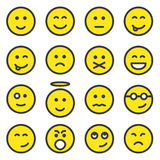 Jogo das faces do smiley Imagem de Stock Royalty Free