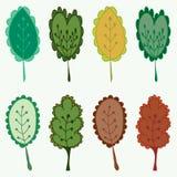 Jogo das folhas Fotografia de Stock