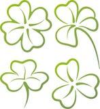 Jogo das folhas do trevo Imagem de Stock
