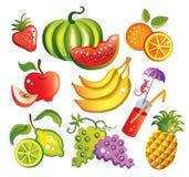Jogo das frutas Fotos de Stock Royalty Free