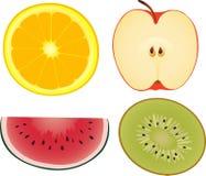 Jogo das frutas Fotografia de Stock Royalty Free