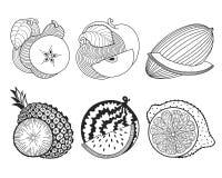 Jogo das frutas Fotografia de Stock