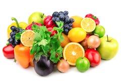 Jogo das frutas e verdura Fotografia de Stock