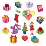 Jogo das imagens por feriados Foto de Stock Royalty Free