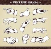 Jogo das mãos do vintage Imagens de Stock