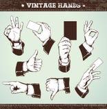 Jogo das mãos do vintage Fotos de Stock Royalty Free