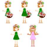 Jogo das meninas. Madeira ilustração royalty free