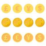 Jogo das moedas Fotografia de Stock