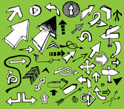 Jogo das setas brancas do doodle Imagem de Stock Royalty Free