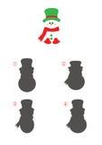 Jogo das sombras, boneco de neve Imagem de Stock Royalty Free