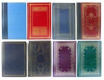 Jogo das tampas de livro velho Imagens de Stock Royalty Free