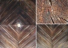 Jogo das texturas de madeira Fotos de Stock Royalty Free