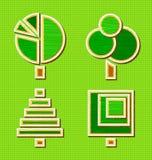 Jogo de árvores abstratas Imagem de Stock Royalty Free