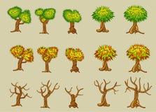 Jogo de árvores do vetor Fotografia de Stock