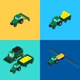 Jogo de ícones agriculturais ilustração stock