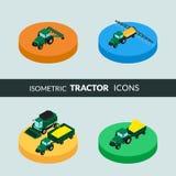 Jogo de ícones agriculturais Foto de Stock Royalty Free