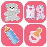 Jogo de ícones bonitos dos babys ilustração royalty free