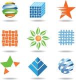 Jogo de ícones coloridos Fotos de Stock