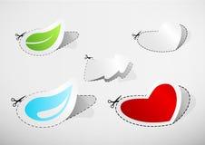Jogo de ícones cortados. Imagem de Stock