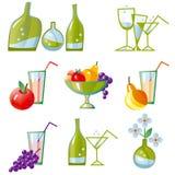 Jogo de ícones da cozinha do vetor Imagens de Stock Royalty Free