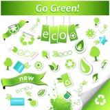 Jogo de ícones da ecologia. Imagem de Stock